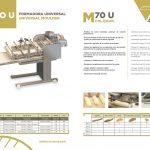 formadora m70u datos Façonneuse pour Pains et Baguettes M70