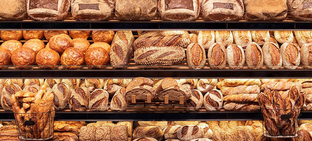 Variedad de pan de calidad en Navidad